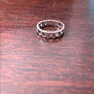 James Avert Small Hearts Ring